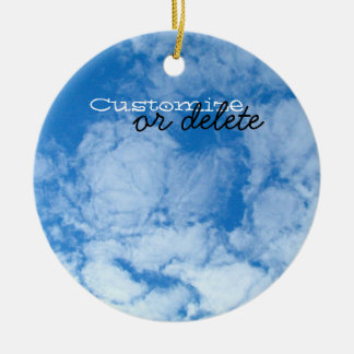 Fluffy White Clouds; Customizable Christmas Ornament