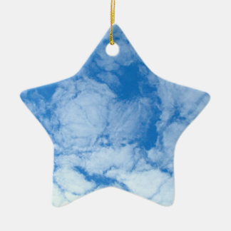 Fluffy White Clouds Christmas Tree Ornaments