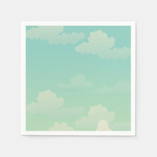 Fluffy White Clouds Paper Napkin