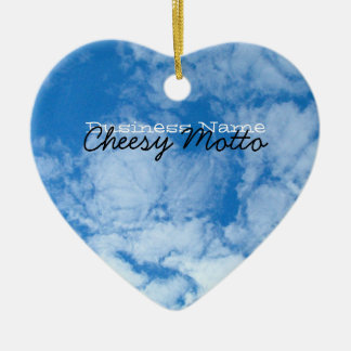 Fluffy White Clouds; Promotional Ceramic Ornament