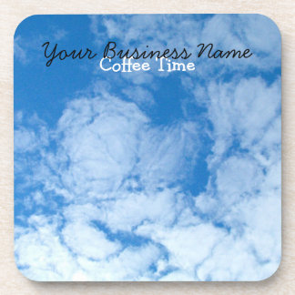 Fluffy White Clouds; Promotional Drink Coaster