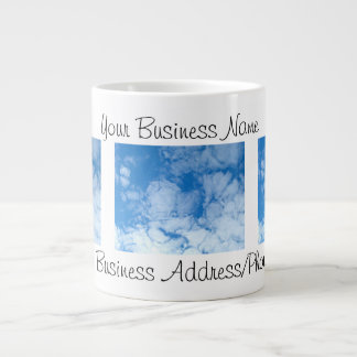 Fluffy White Clouds; Promotional Large Coffee Mug