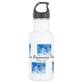 Fluffy White Clouds; Promotional Stainless Steel Water Bottle