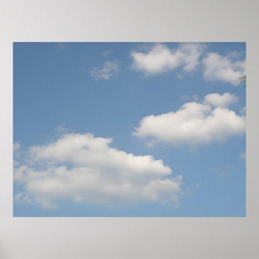 Fluffy White Cumulus Clouds Print