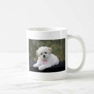 Fluffy White Dog Coffee Mug