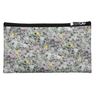Fluffy White Granite Candy Cosmetic Bag