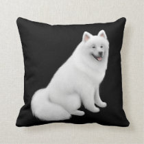 Fluffy White Samoyed Dog Pillow