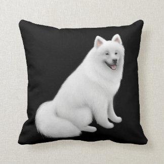 Fluffy White Samoyed Dog Pillow