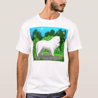 Fluffy White Samoyed Dog T Shirt