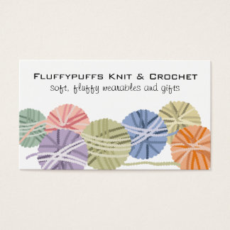 Fluffy yarn balls knitting crochet gift tag