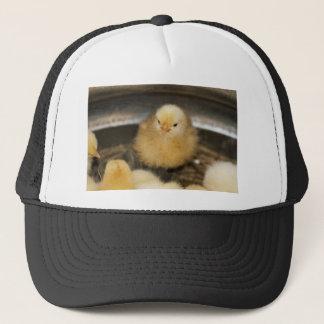 Fluffy Yellow Baby Chick Trucker Hat