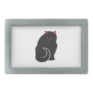 FluffyBlackCat.ai Rectangular Belt Buckle