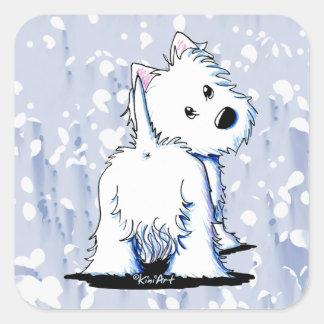 Fluffybutt Westie Stickers