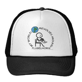 Flugelhorn - el mundo gira alrededor gorros bordados
