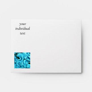 fluid art01 aqua envelopes
