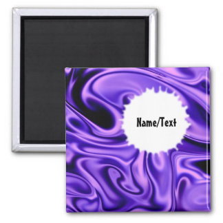 fluid art01 purple 2 inch square magnet