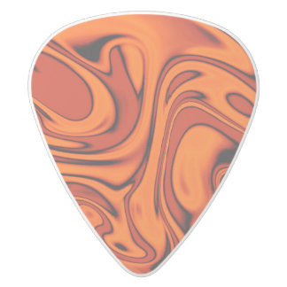 fluid art01 red white delrin guitar pick