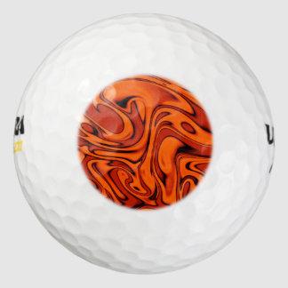 fluid art01 red pack of golf balls