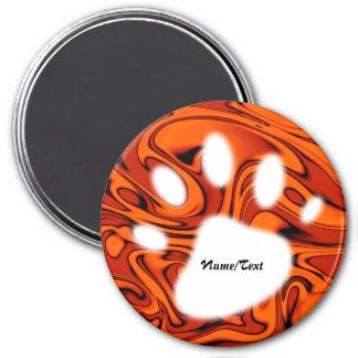 fluid art01 red 3 inch round magnet