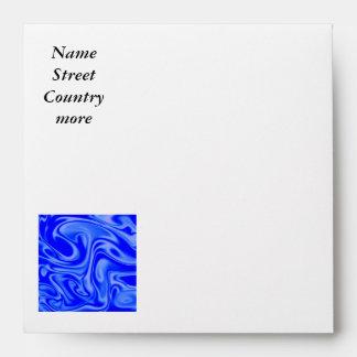 fluid art01inky blue envelopes