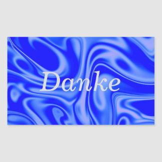 fluid art01inky blue rectangular sticker