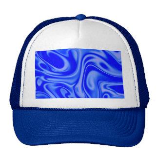 fluid art 01 inky blue trucker hat