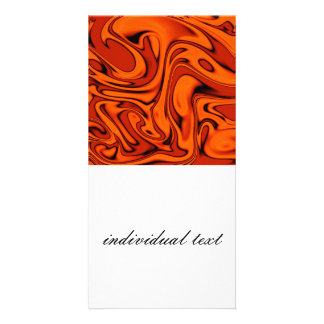 fluid art 01 red photo card
