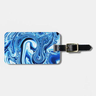 Fluid art 09,blue travel bag tags