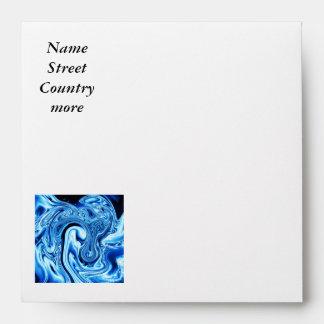 Fluid art 09 ice blue envelopes
