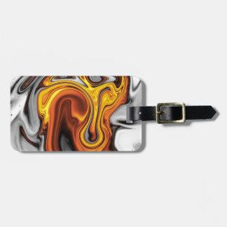 Fluid art 09,orange travel bag tags