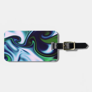 fluid art green tags for bags
