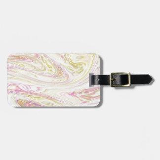 fluid art soft travel bag tag