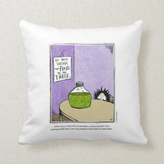 FLUID cartoon by Ellen Elliott Throw Pillow