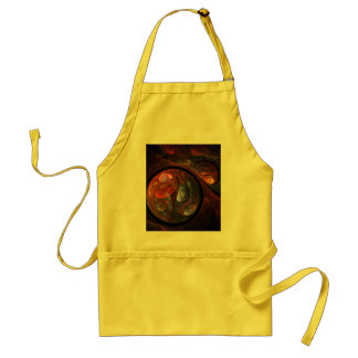 Fluid Connection Abstract Art Apron