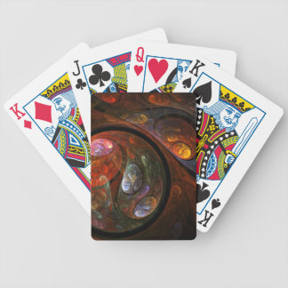 Fluid Connection Abstract Art Bicycle Playing Cards