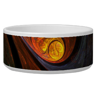 Fluid Connection Abstract Art Dog Bowl