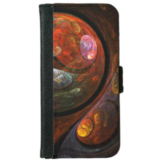 Fluid Connection Abstract Art iPhone 6/6s Wallet Case
