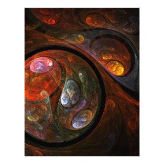 Fluid Connection Abstract Art Letterhead