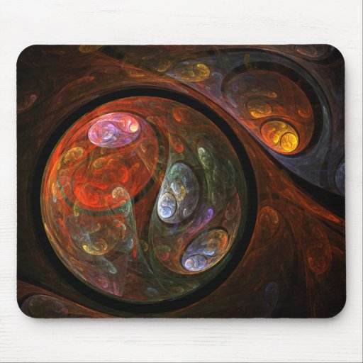 Fluid Connection Abstract Art Mousepad