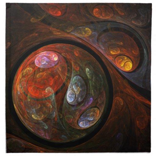 Fluid Connection Abstract Art Napkin