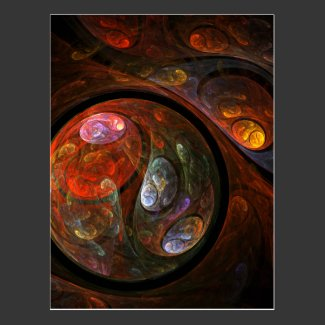 Fluid Connection Abstract Art Postcard