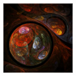 Fluid Connection Abstract Art Print