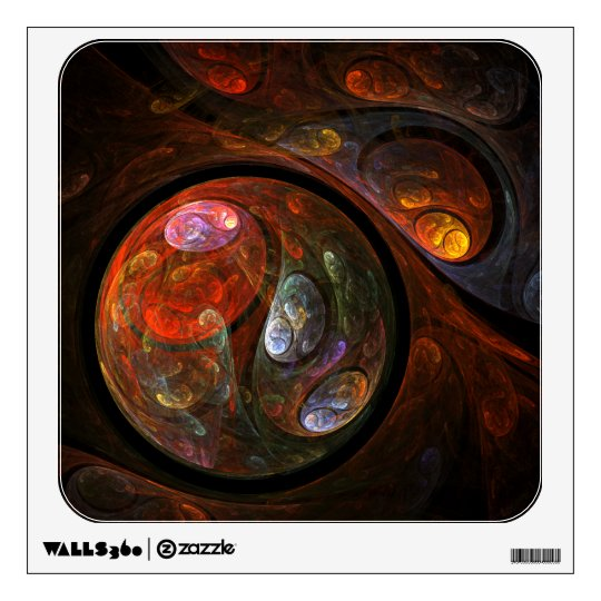 Fluid Connection Abstract Art Square Wall Sticker
