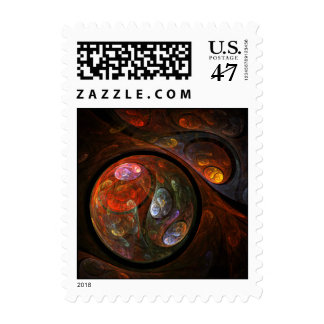 Fluid Connection Abstract Postage Stamp