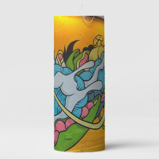 Fluid Flowers Streetart Candle