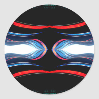 Fluid Harmonics Urban Futuristic Modern Art Classic Round Sticker