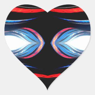 Fluid Harmonics Urban Futuristic Modern Art Heart Sticker