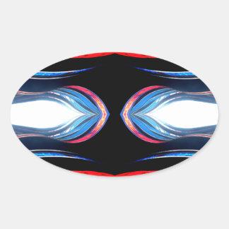 Fluid Harmonics Urban Futuristic Modern Art Oval Sticker