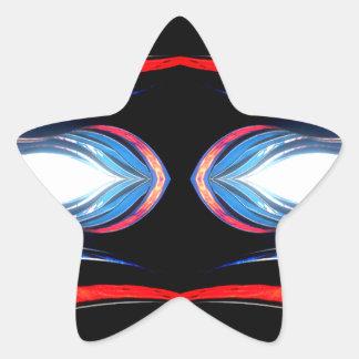 Fluid Harmonics Urban Futuristic Modern Art Star Sticker