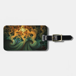 FLUID MOTION ABSTRACT TRAVEL BAG TAG